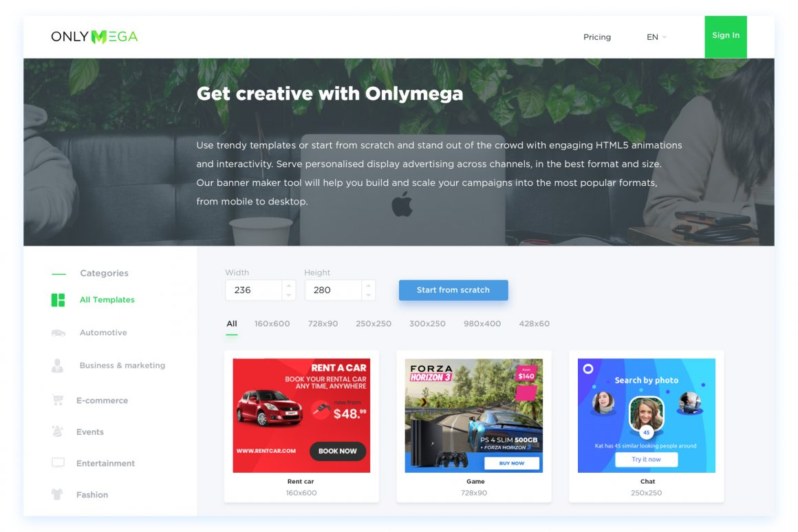 Onlymega templates page