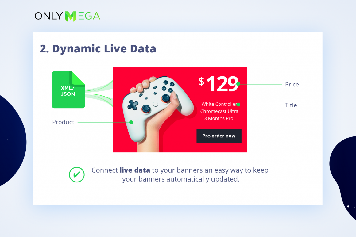 Create Dynamic Live Data banners with Bannernow platform